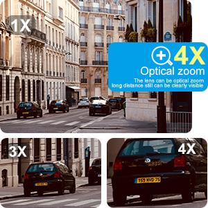 4X motorized zoom