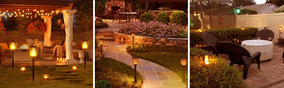 flame garden lights