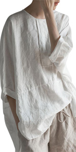 Blouses Top,High Low Shirt ,Embroidered Blouse Tunic baggy blouse Irregular Ladies henley shirts
