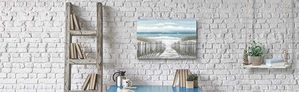 Path to ocean print