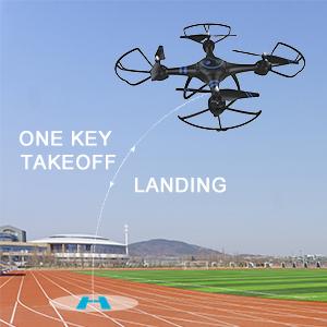 one key take off landing