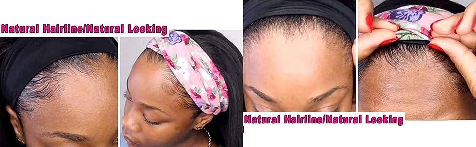 headband wig natural hairline