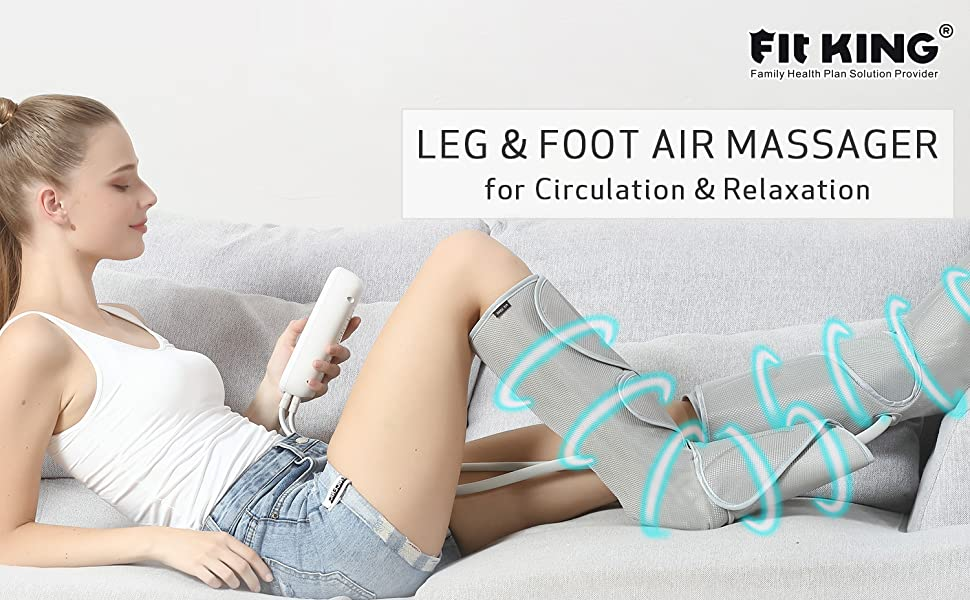 Amazon.com: FIT KING Leg Massager for Circulation Air Compression Foot and  Calf Massager with Handheld Controller 2 Modes 3 Intensities (with 2  Extensions): Health & Personal Care