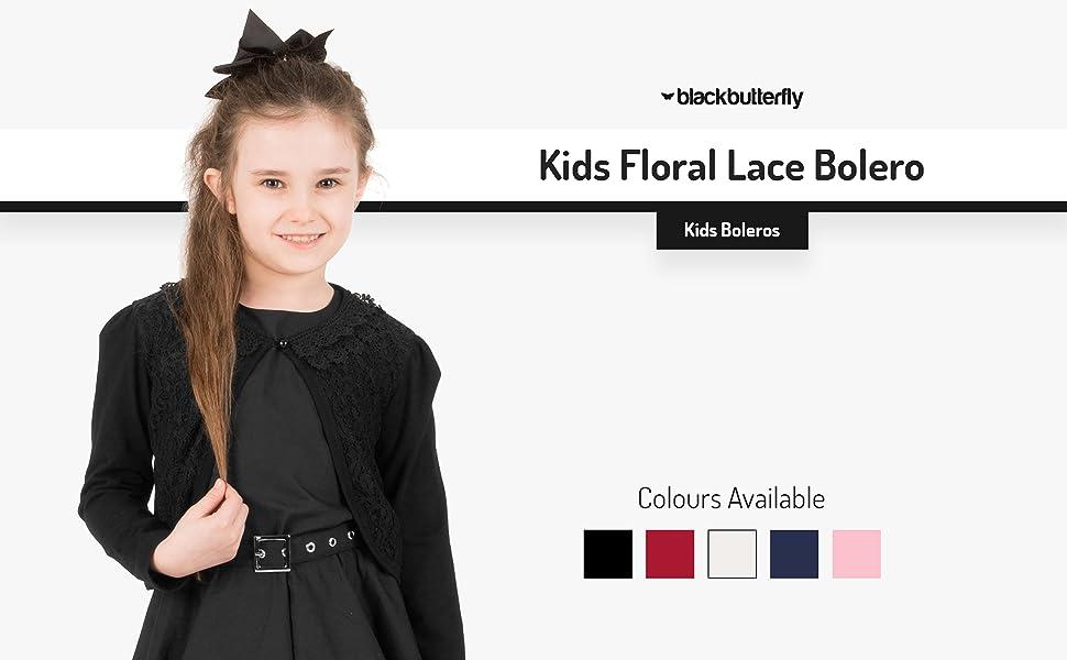 Kids Floral Lace Bolero