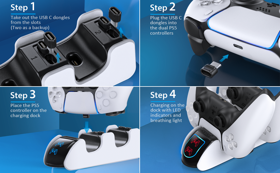 PS5 controller charger dock