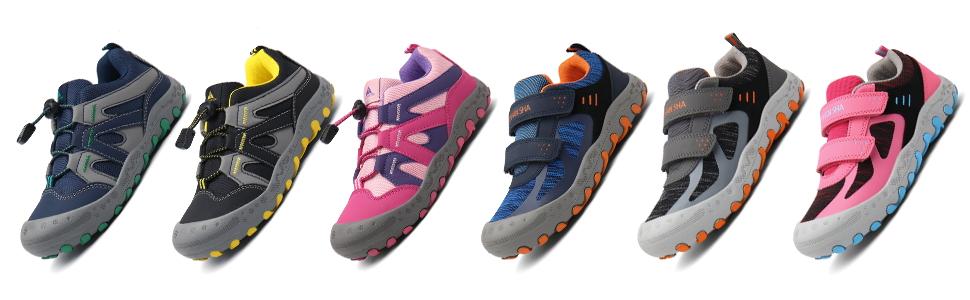 Chaussures Enfant Chaussure Randonn/ée Gar/çon Antid/érapant Sneakers Fille L/éger Respirantes GR.24-38 EU