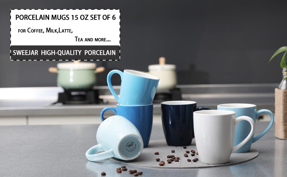 tea mugs set of 6