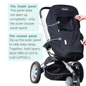 snooze shade stroller shade plus