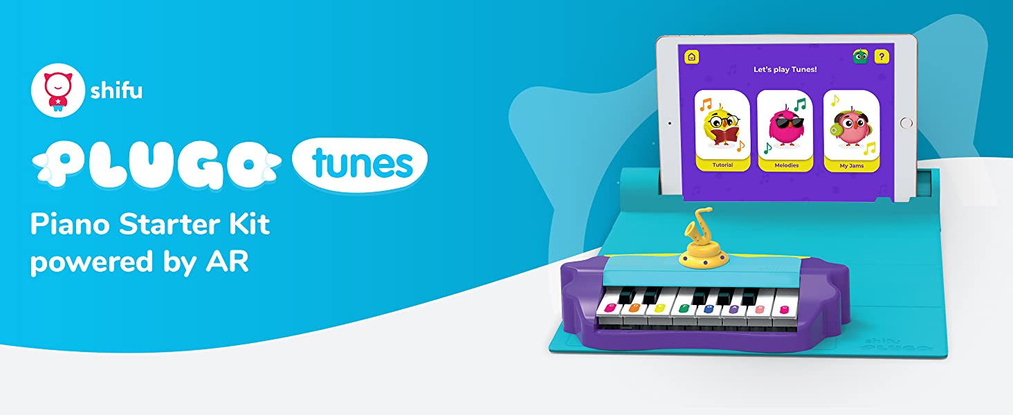 Plugo - Plugo Tunes By PlayShifu - Piano Learning Kit Musical STEAM Toy For Ages 5-10 - Educational Music Instruments Gift For Boys & Girls (App Based)