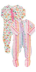 RuffleButts Footed Pajamas
