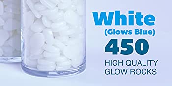 White colored 450 high quality glow rocks