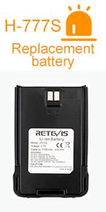 Walkie Talkies Rechargeable Battery