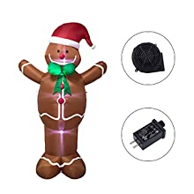 8ft Christmas Inflatable Gingerbread Man with LED lights