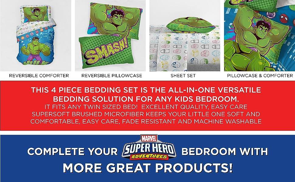 Avengers, Bed Set, Sheet Set