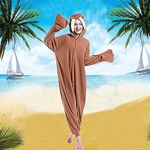 dressfan Onesie Animal Animal Mono Morsa Ropa de Dormir Pijamas para Adultos Unisex Polar Fleece Disfraces de Cosplay Disfraz de Rendimiento