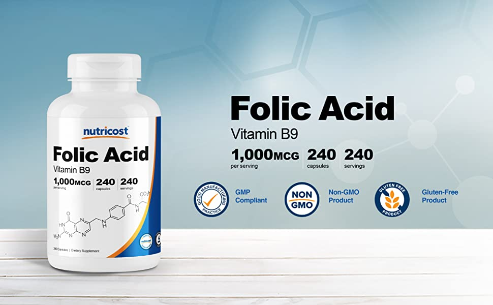 Nutricost Folic Acid Vitamin B9