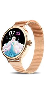 Smart Watch for Women, Full Touch IPS Color Screen Fitness Tracker Activity Tracker IP67 Waterproof