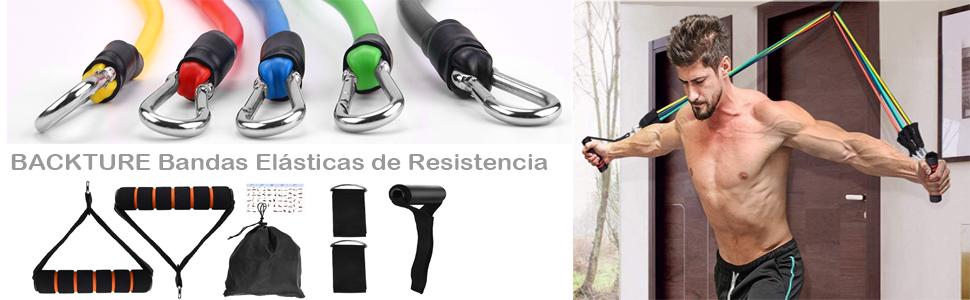 BACKTURE Bandas Elásticas de Resistencia, 11Pcs Juego de ...