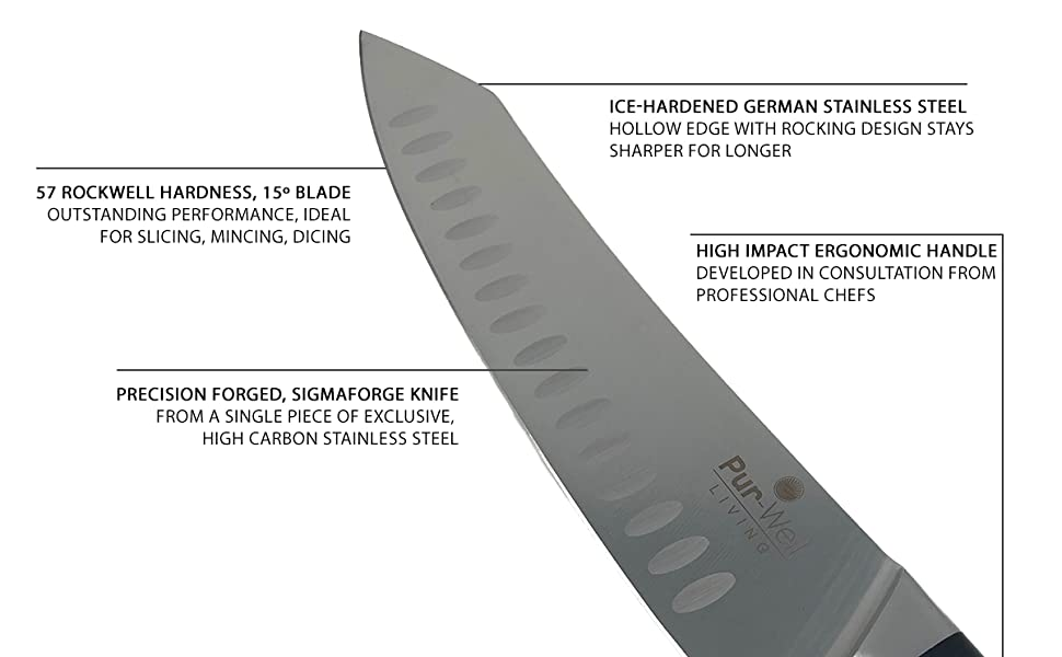 PWL Classic 8in Chef Knife (Made with German Stainless Steel)