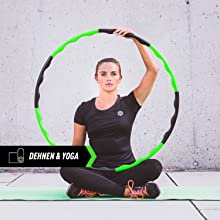 Frau beim Dehnen und Yoga