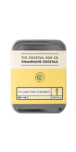 Champagne Cocktail flute carry on travel accessories gift