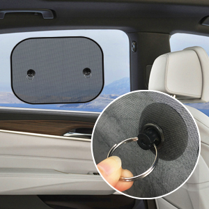 UBEGOOD Car Sun Shade for Side Window with Suction Cups 2 Pack Double-Layer Mesh Block Sun for Baby Kids and Pets Car Window Shade Universal Size