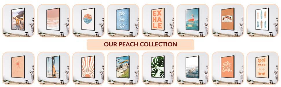 hawaii decor peach pictures for room orange color wall surf decorations home
