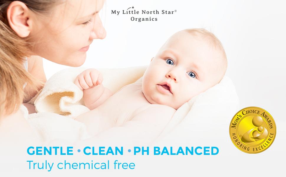 Organic natural hypoallergenic baby shampoo