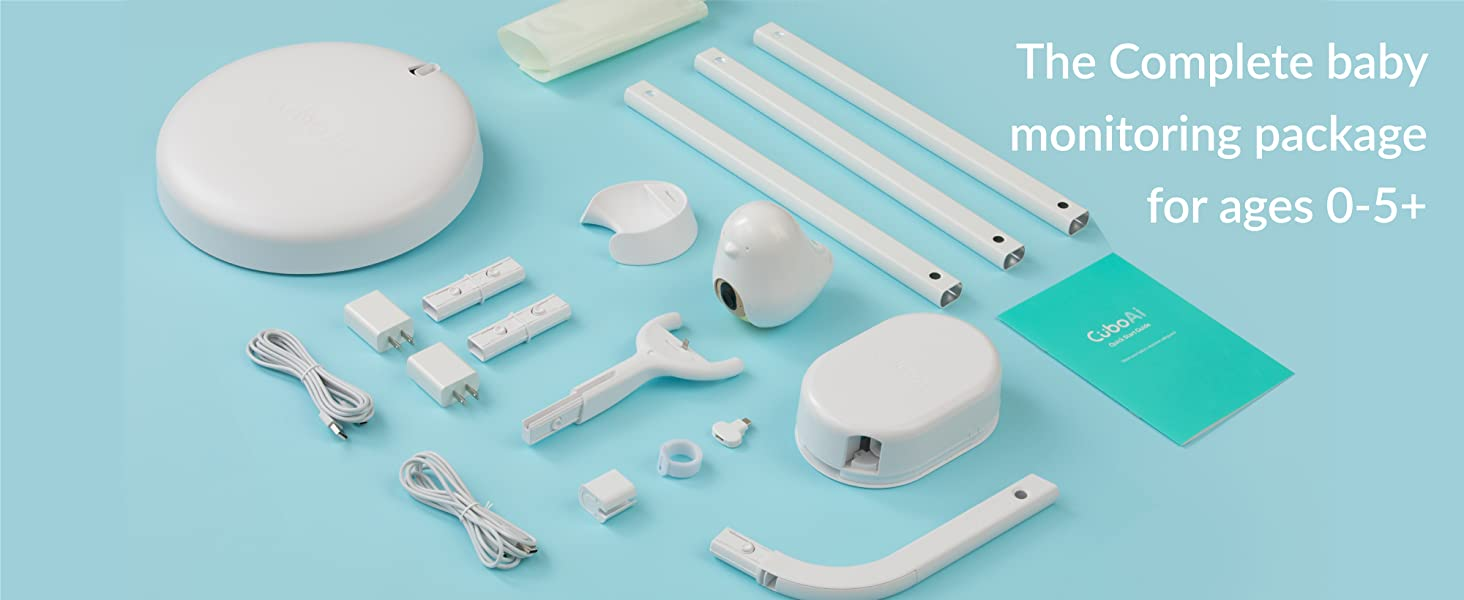 complete baby monitoring package for 0 to 5 years