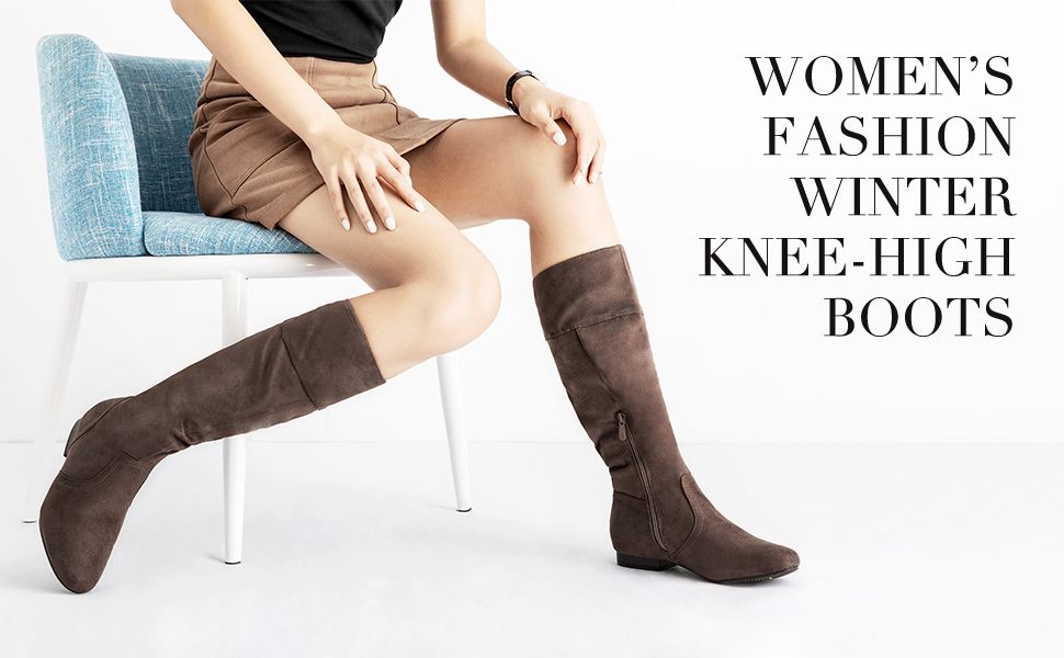 dream pairs women knee high boots