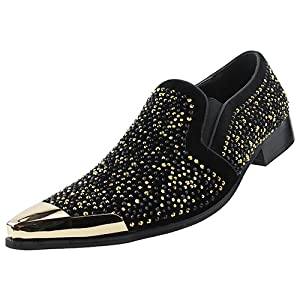 bolano, exotic, loafer, metal, metallic, gold, silver, red, metal toe, dezzy