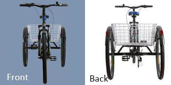 7 Speed Three Wheel Bikes Mountain Tricycles