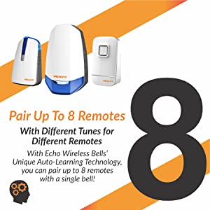 remtotes, auto-learning, different, bell, wireless, door, chime, separate, intelligent, smart