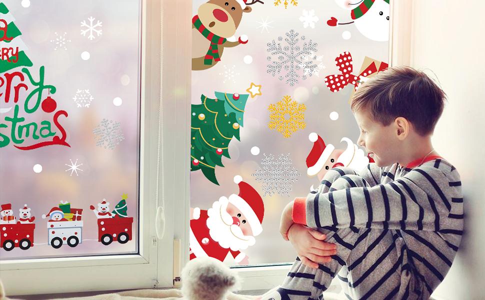 windimiley christmas window film sticker