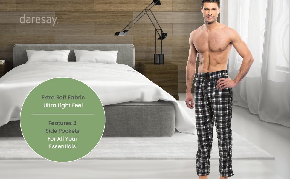 daresay mens microfleece pajama pants perfect for sleep and lounge extra soft fabric