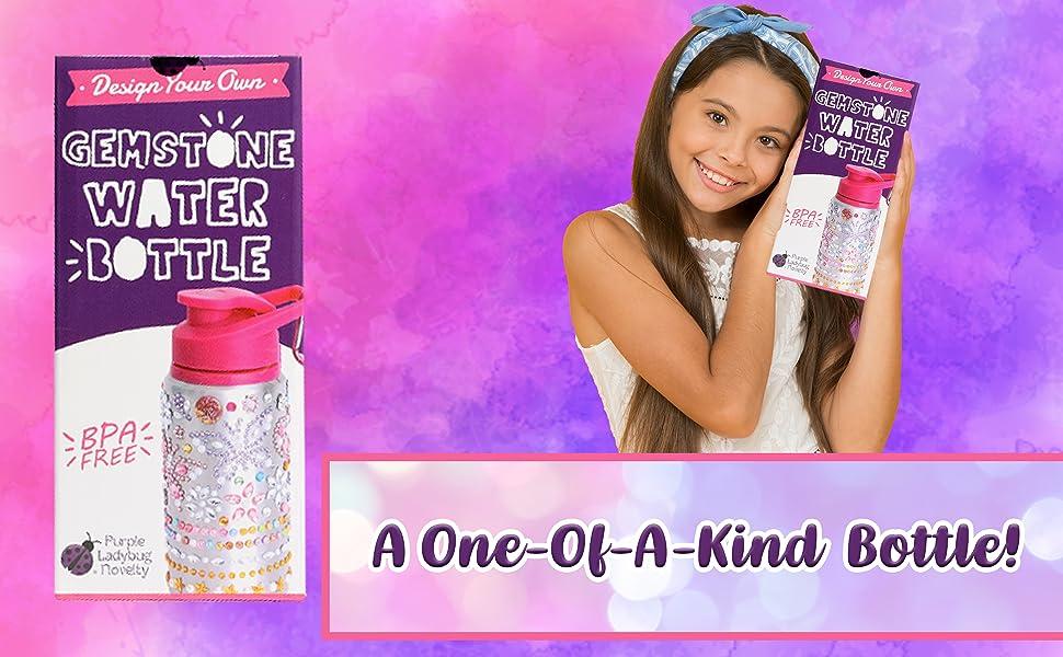 water bottle for kids bpa free water bottle gift for girls gift for kids craft kit for kids easter