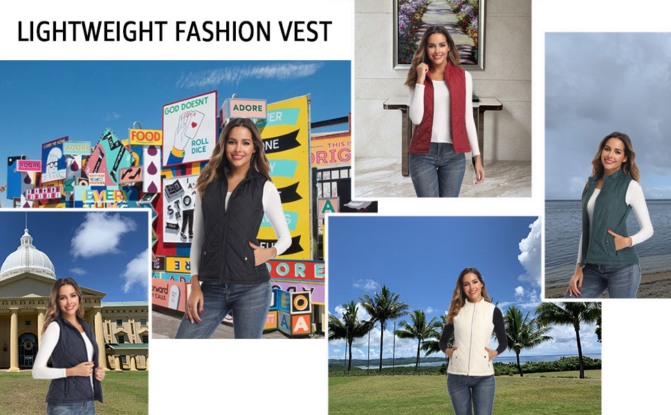 lightweight vests for women