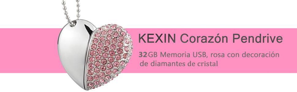 64gb memoria usb de formato corazon