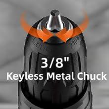 """3/8"""" Keyless Auto Chuck"""