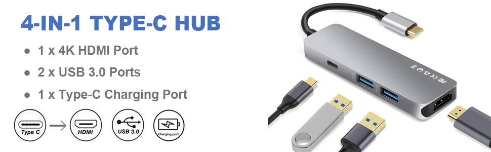 USB 3.1 Type-C to Dual Type-A OTG HUB Adapter Cable For Huawei MateBook X Pro AU