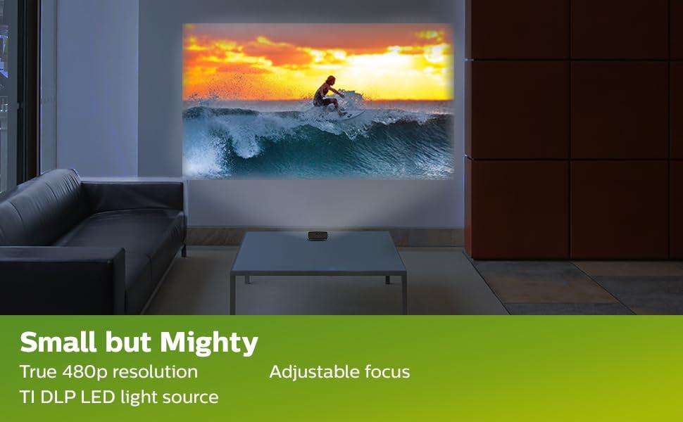 true 480p TI DLP LED light source