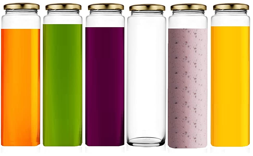 GLASS LONG JARS FOR STORAGE