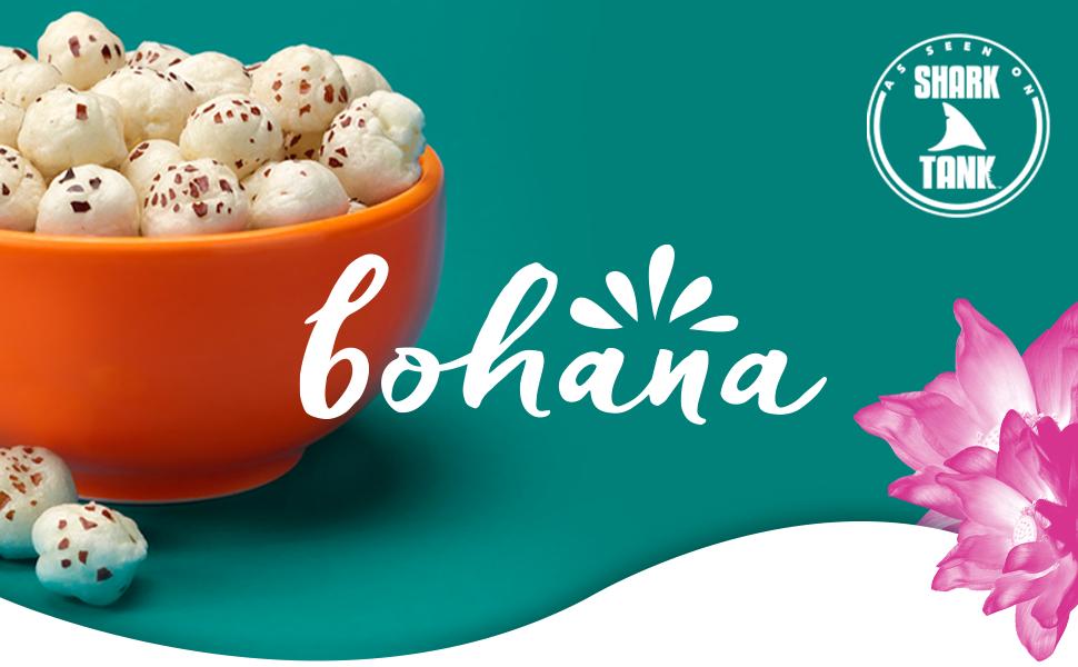 bohana popped water lily seeds healthy snack protein kid safe popcorn alternative