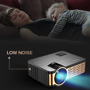 4  XIAOYA Mini Projector HD 720P with HiFi Speaker, 4000 Lumens Movie Projector Support 1080P Home Theater Projector, Compatible with HDMI, SD, AV, VGA, USB ed7ae166 88d6 4b09 9573 a7600aa9ac4a