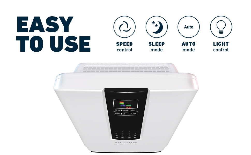 Easy to use hepa air purifier for home