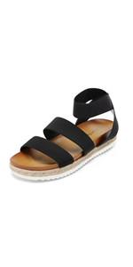 women platform sandals espadrilles flatform elastic strap