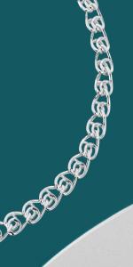 Bracciale in argento con catena a cuore