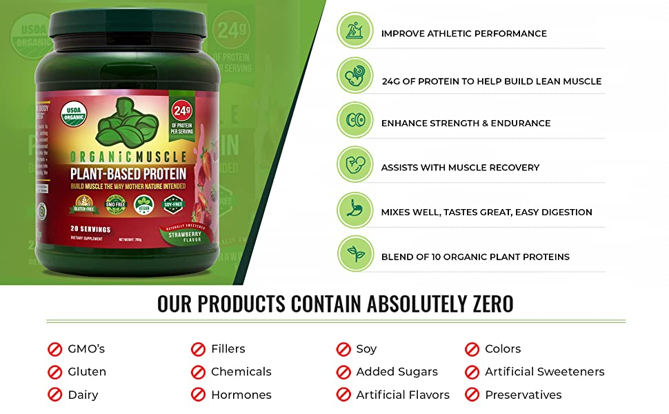 Organic Vegan Protein Product Highlights