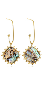 shell earring dangle earring for women