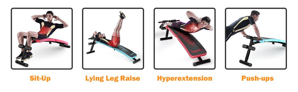 suitable for various exerise sit up lying leg raise hyperextension push ups